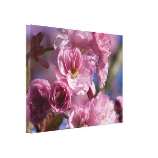 ピンクの花盛りの日本のな桜の壁の芸術 キャンバスプリント