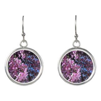 ピンクの花盛りの木のイヤリング イヤリング
