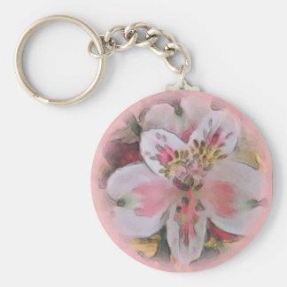 ピンクの花花束Keychainでかわいらしい キーホルダー