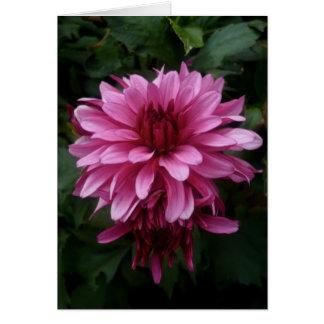 ピンクの花 の郵便料金 グリーティングカード