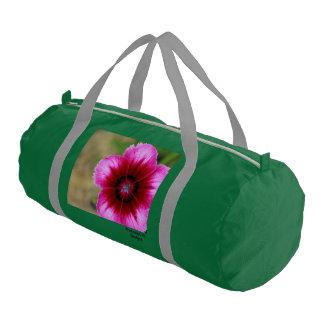 ピンクの花 ジムバッグ