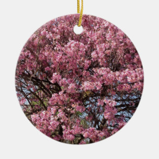 ピンクの花 セラミックオーナメント