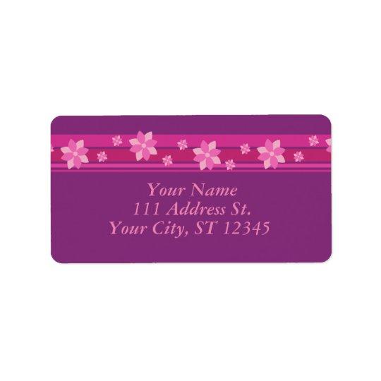 ピンクの花 ラベル