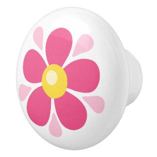 ピンクの花-子供へかわいい子供部屋の装飾 セラミックノブ