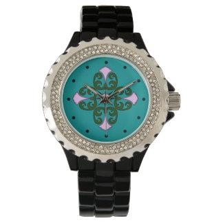 ピンクの花 腕時計
