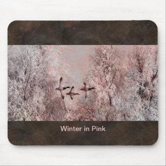ピンクの芸術のマウスパッドの冬 マウスパッド