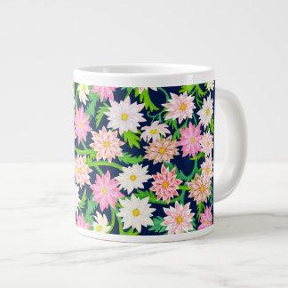 ピンクの英国の庭によってはジャンボマグが開花します ジャンボコーヒーマグカップ