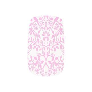 ピンクの英国の庭によってはMinxのネイルシールが開花します ネイルデコレーション