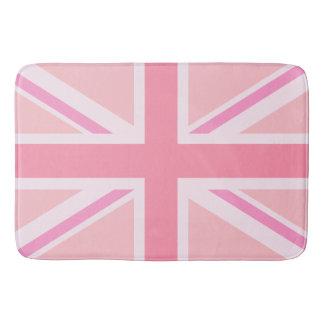 ピンクの英国国旗か旗のデザイン バスマット