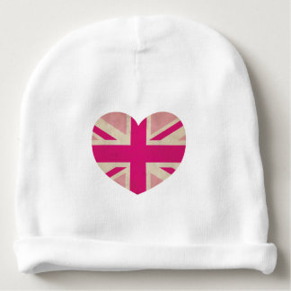 ピンクの英国国旗の旗の帽子のベビーの帽子 ベビービーニー
