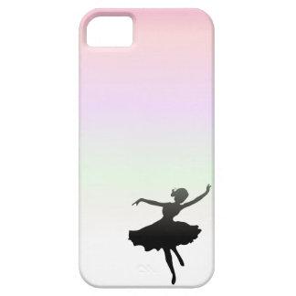 ピンクの薄紫の日没のバレエダンサーの踊り iPhone SE/5/5s ケース