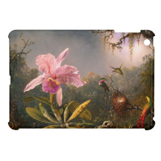 ピンクの蘭および3羽のハチドリのiPad Miniケース iPad Mini カバー