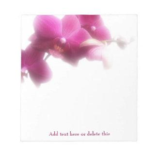 ピンクの蘭のメモ帳 ノートパッド