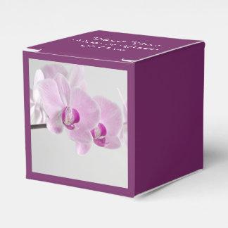 ピンクの蘭の優雅の結婚式の引き出物箱 フェイバーボックス