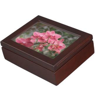 ピンクの蘭の花 ジュエリーボックス
