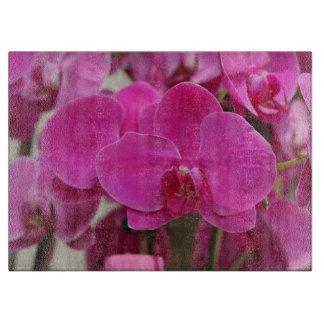 ピンクの蘭の開花 カッティングボード