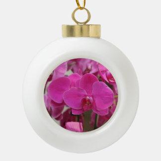 ピンクの蘭の開花 セラミックボールオーナメント