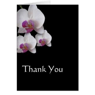 ピンクの蘭はノート感謝していしています カード