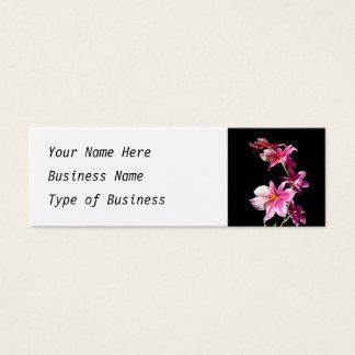ピンクの蘭 スキニー名刺