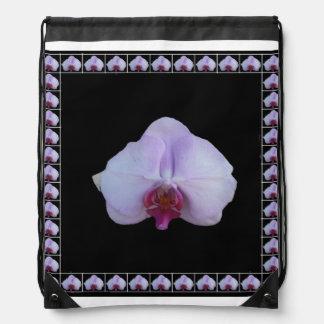 ピンクの蘭 ナップサック