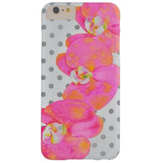 ピンクの蘭-水玉模様 BARELY THERE iPhone 6 PLUS ケース