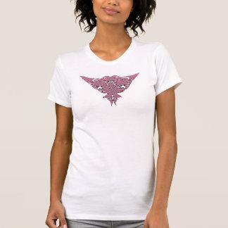 ピンクの虹のフラクタルのレースa1のTシャツ Tシャツ