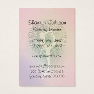 ピンクの虹のヨガの木 名刺