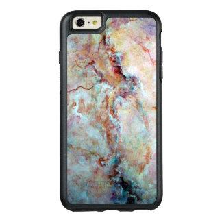 ピンクの虹の大理石の石の終わり オッターボックスiPhone 6/6S PLUSケース