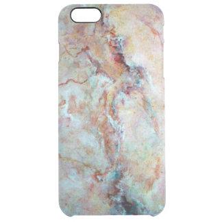 ピンクの虹の大理石の石の終わり クリア iPhone 6 PLUSケース