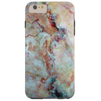 ピンクの虹の大理石の石の終わり TOUGH iPhone 6 PLUS ケース