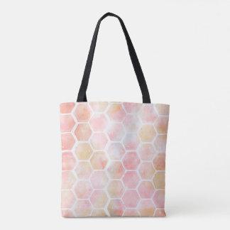ピンクの蜜蜂の巣のトート トートバッグ