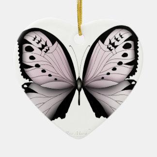 ピンクの蝶ばら色の沼地の女中 セラミックオーナメント