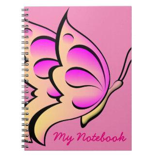 ピンクの蝶ノート ノートブック