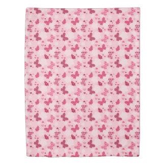 ピンクの蝶パターン羽毛布団カバー 掛け布団カバー