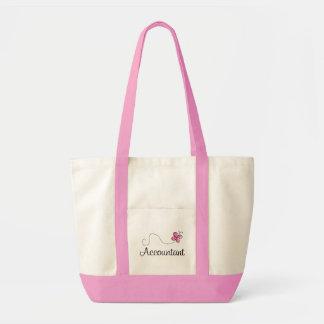 ピンクの蝶職業会計士 トートバッグ
