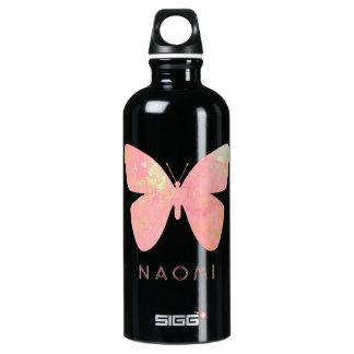 ピンクの蝶 ウォーターボトル