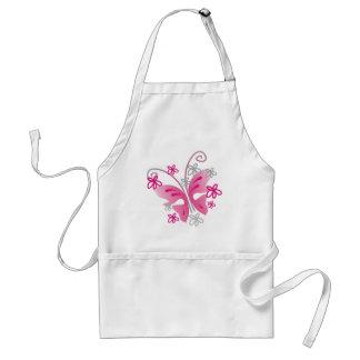 ピンクの蝶 スタンダードエプロン