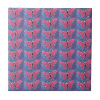 ピンクの蝶 タイル