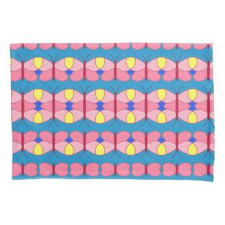 ピンクの蝶 枕カバー