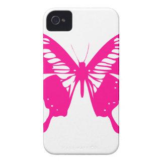 ピンクの蝶 Case-Mate iPhone 4 ケース