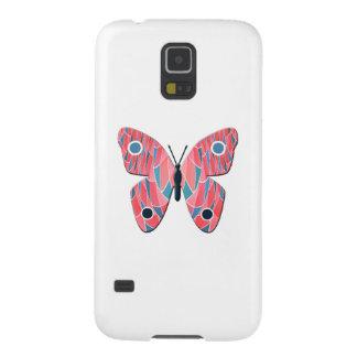 ピンクの蝶 GALAXY S5 ケース