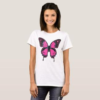 ピンクの蝶 Tシャツ