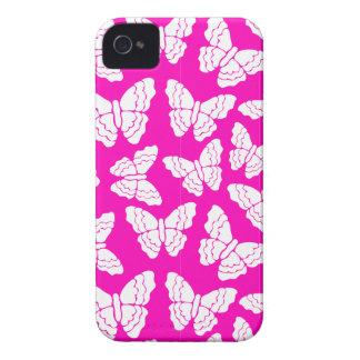ピンクの蝶iPhone 4/4Sの場合 Case-Mate iPhone 4 ケース