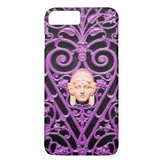 ピンクの装飾的な芸術の錬鉄のiPhoneの場合 iPhone 8 Plus/7 Plusケース