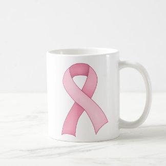 ピンクの認識度のリボンのマグ0001 コーヒーマグカップ