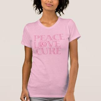 ピンクの認識度のリボン Tシャツ