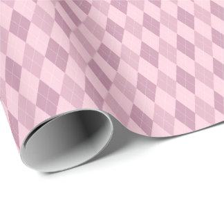 ピンクの調子のアーガイル柄のな包装紙 ラッピングペーパー