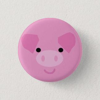 ピンクの豚のようなボタン 3.2CM 丸型バッジ