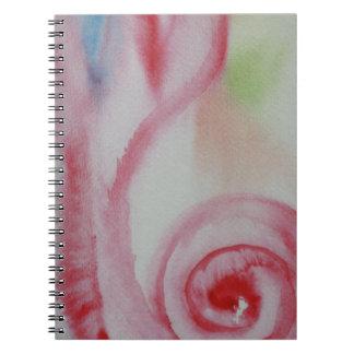 ピンクの貝の水彩画 ノートブック