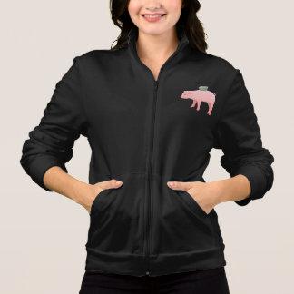 ピンクの貯金箱レディースジャケット